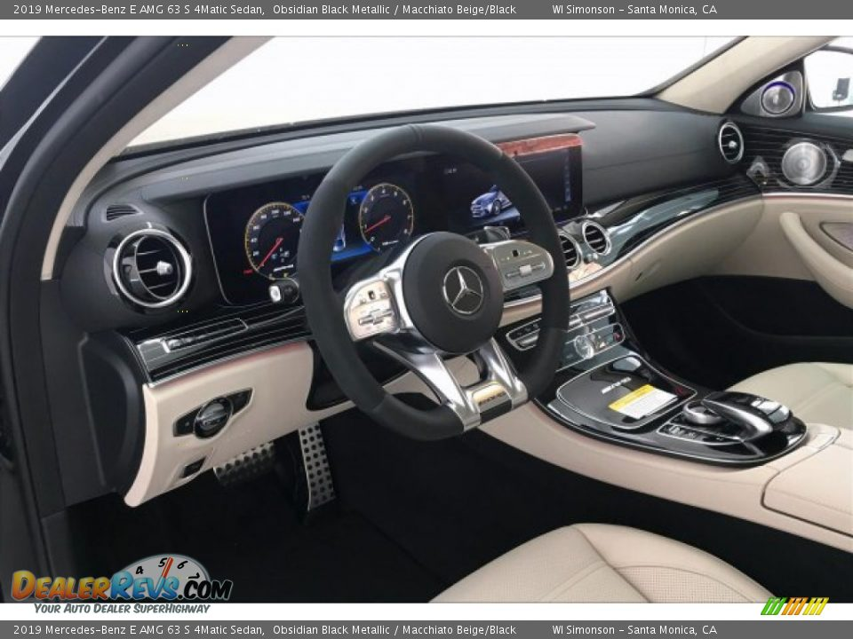 2019 Mercedes-Benz E AMG 63 S 4Matic Sedan Obsidian Black Metallic / Macchiato Beige/Black Photo #4