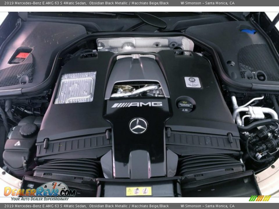 2019 Mercedes-Benz E AMG 63 S 4Matic Sedan Obsidian Black Metallic / Macchiato Beige/Black Photo #8
