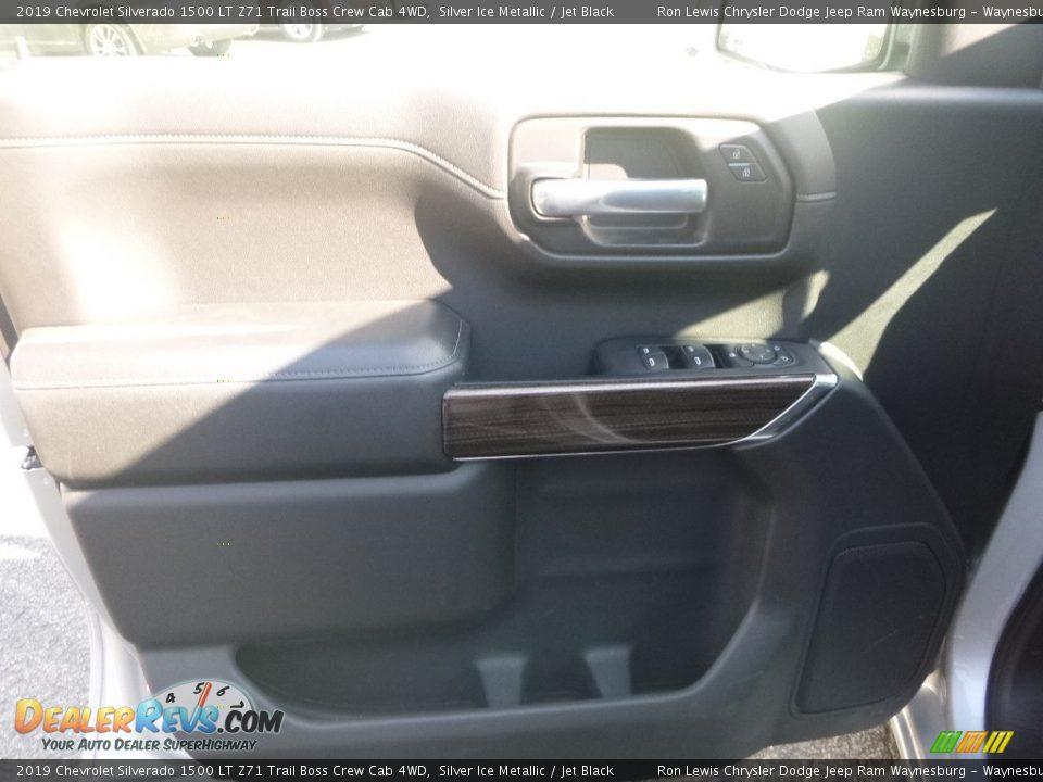 2019 Chevrolet Silverado 1500 LT Z71 Trail Boss Crew Cab 4WD Silver Ice Metallic / Jet Black Photo #13