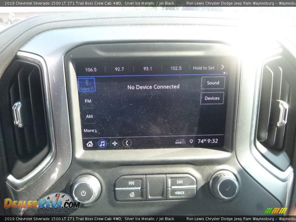 2019 Chevrolet Silverado 1500 LT Z71 Trail Boss Crew Cab 4WD Silver Ice Metallic / Jet Black Photo #15