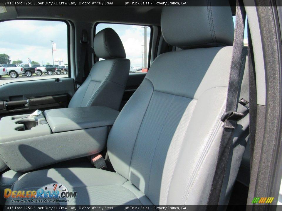 2015 Ford F250 Super Duty XL Crew Cab Oxford White / Steel Photo #25