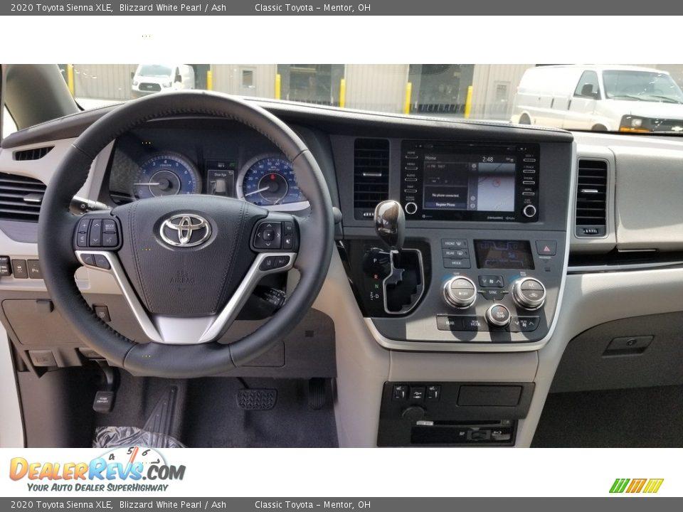 Dashboard of 2020 Toyota Sienna XLE Photo #4