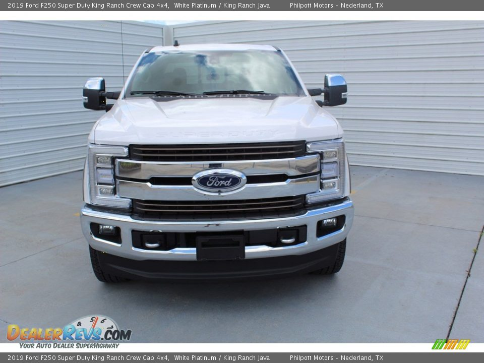 2019 Ford F250 Super Duty King Ranch Crew Cab 4x4 White Platinum / King Ranch Java Photo #3