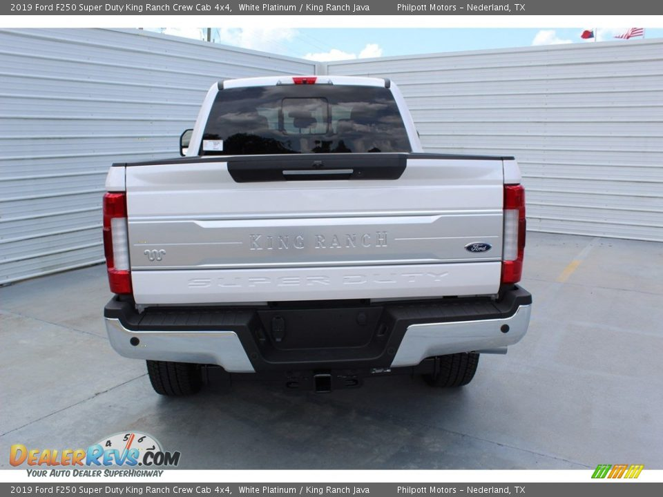 2019 Ford F250 Super Duty King Ranch Crew Cab 4x4 White Platinum / King Ranch Java Photo #7