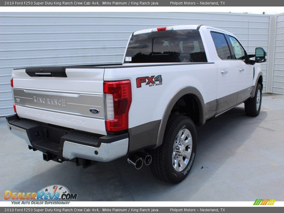 2019 Ford F250 Super Duty King Ranch Crew Cab 4x4 White Platinum / King Ranch Java Photo #8