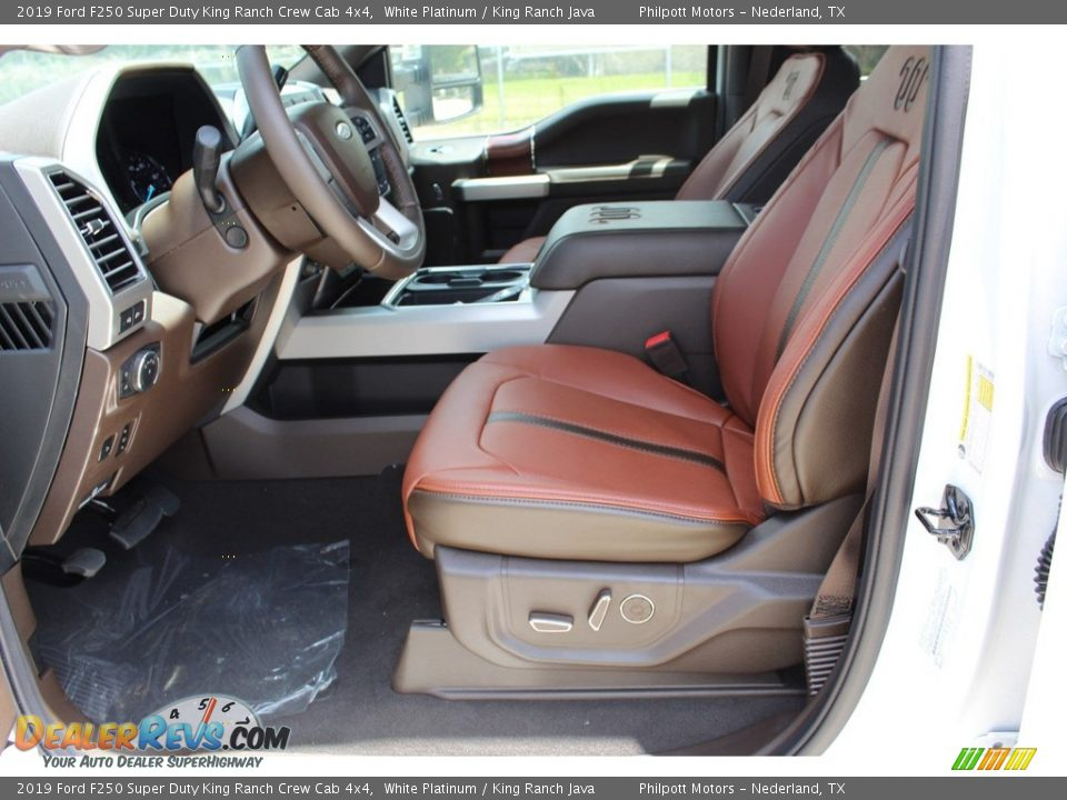2019 Ford F250 Super Duty King Ranch Crew Cab 4x4 White Platinum / King Ranch Java Photo #10