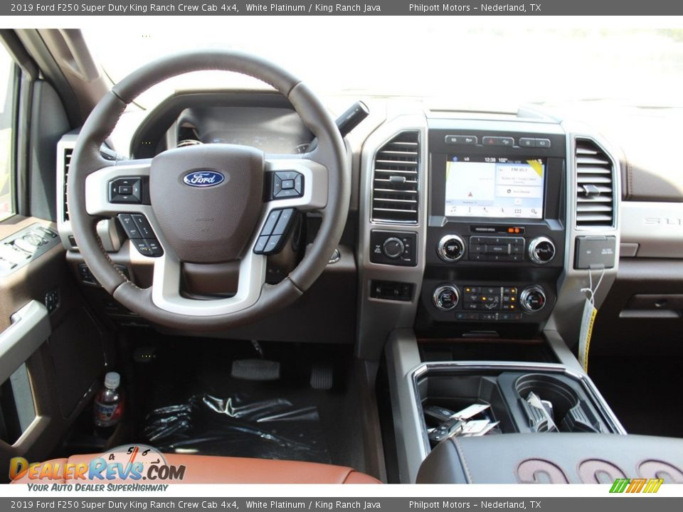 2019 Ford F250 Super Duty King Ranch Crew Cab 4x4 White Platinum / King Ranch Java Photo #22