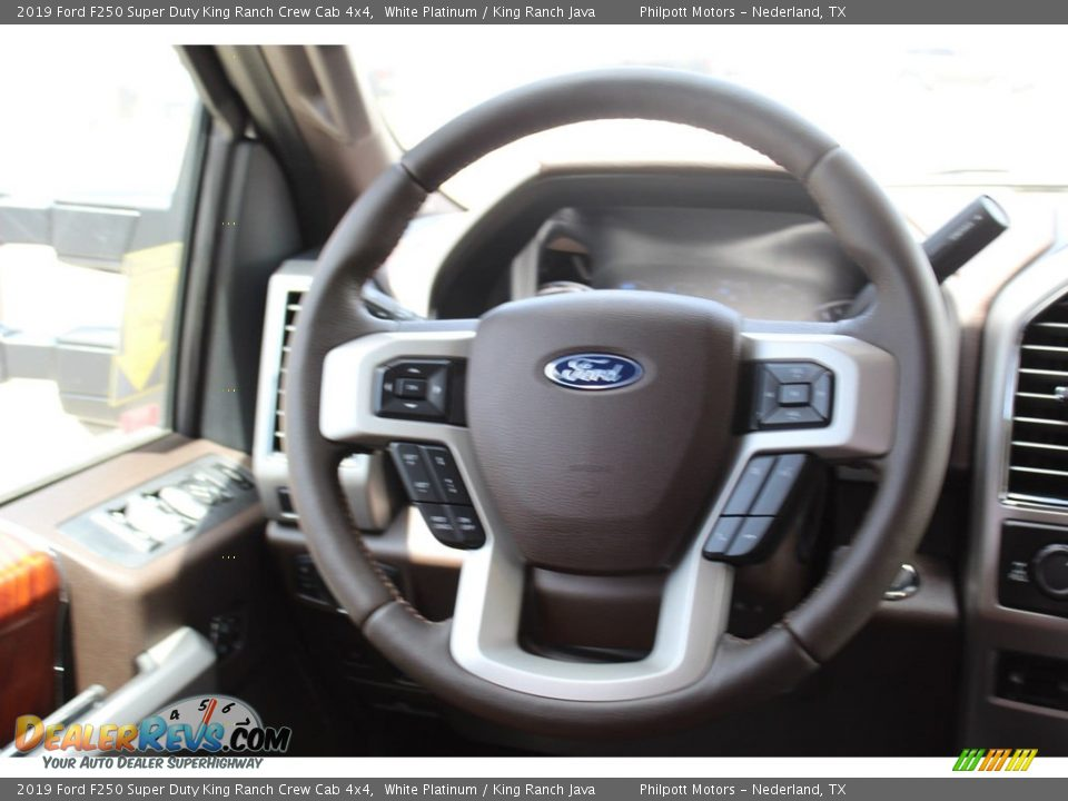 2019 Ford F250 Super Duty King Ranch Crew Cab 4x4 White Platinum / King Ranch Java Photo #23