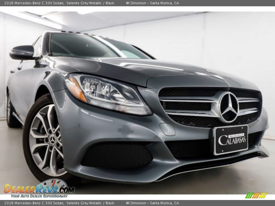 2018 Mercedes-Benz C 300 Sedan Selenite Grey Metallic / Black Photo #2