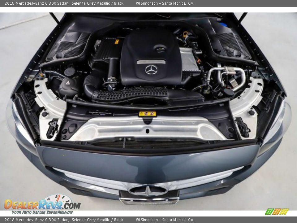 2018 Mercedes-Benz C 300 Sedan Selenite Grey Metallic / Black Photo #16
