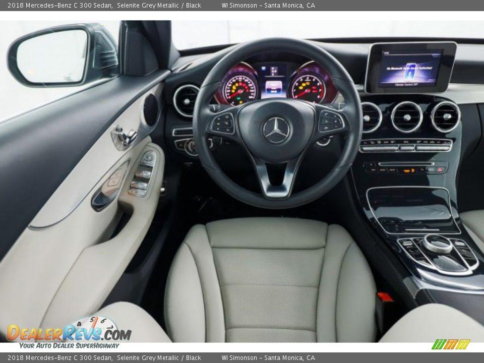 2018 Mercedes-Benz C 300 Sedan Selenite Grey Metallic / Black Photo #23