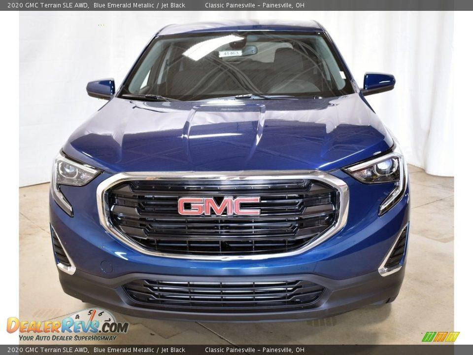 2020 GMC Terrain SLE AWD Blue Emerald Metallic / Jet Black Photo #4