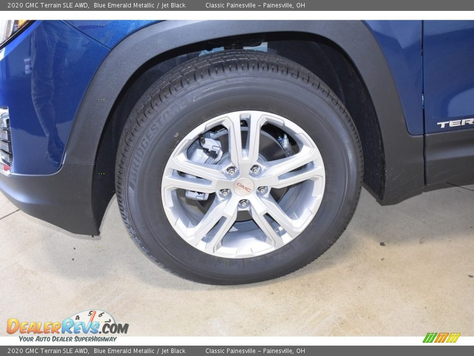 2020 GMC Terrain SLE AWD Blue Emerald Metallic / Jet Black Photo #5