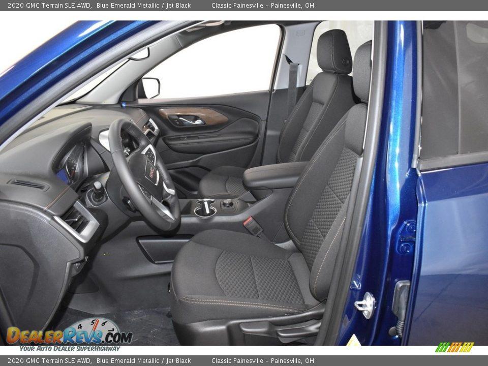 2020 GMC Terrain SLE AWD Blue Emerald Metallic / Jet Black Photo #6