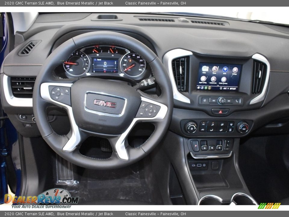 2020 GMC Terrain SLE AWD Blue Emerald Metallic / Jet Black Photo #8