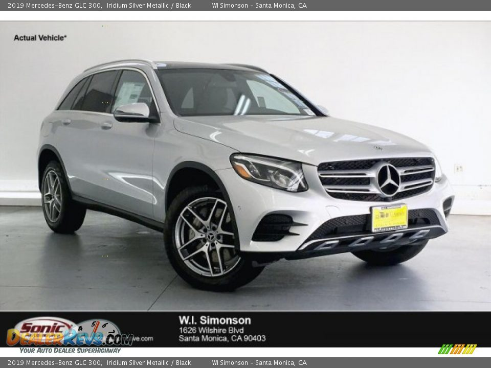 2019 Mercedes-Benz GLC 300 Iridium Silver Metallic / Black Photo #1