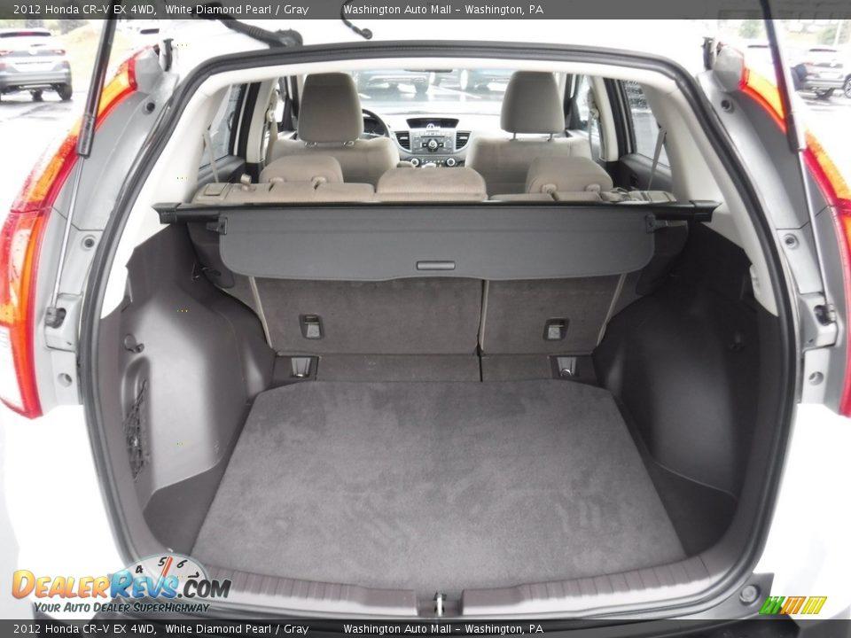 2012 Honda CR-V EX 4WD White Diamond Pearl / Gray Photo #26