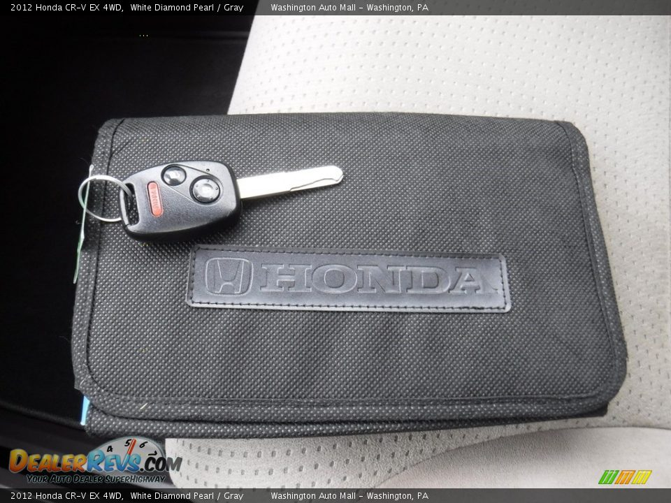 2012 Honda CR-V EX 4WD White Diamond Pearl / Gray Photo #27