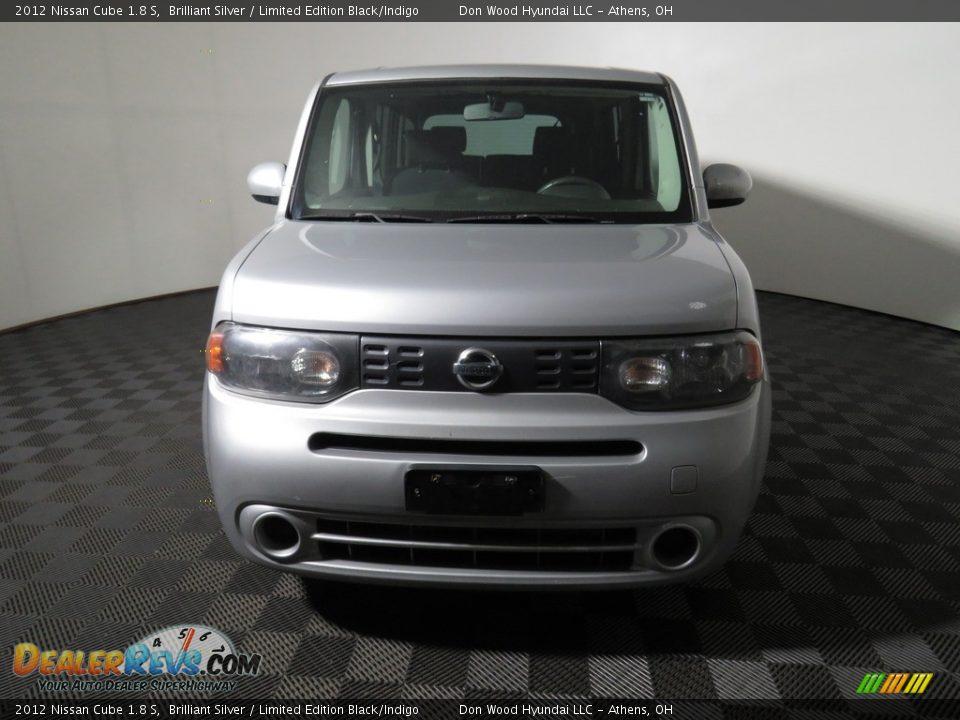 2012 Nissan Cube 1.8 S Brilliant Silver / Limited Edition Black/Indigo Photo #4