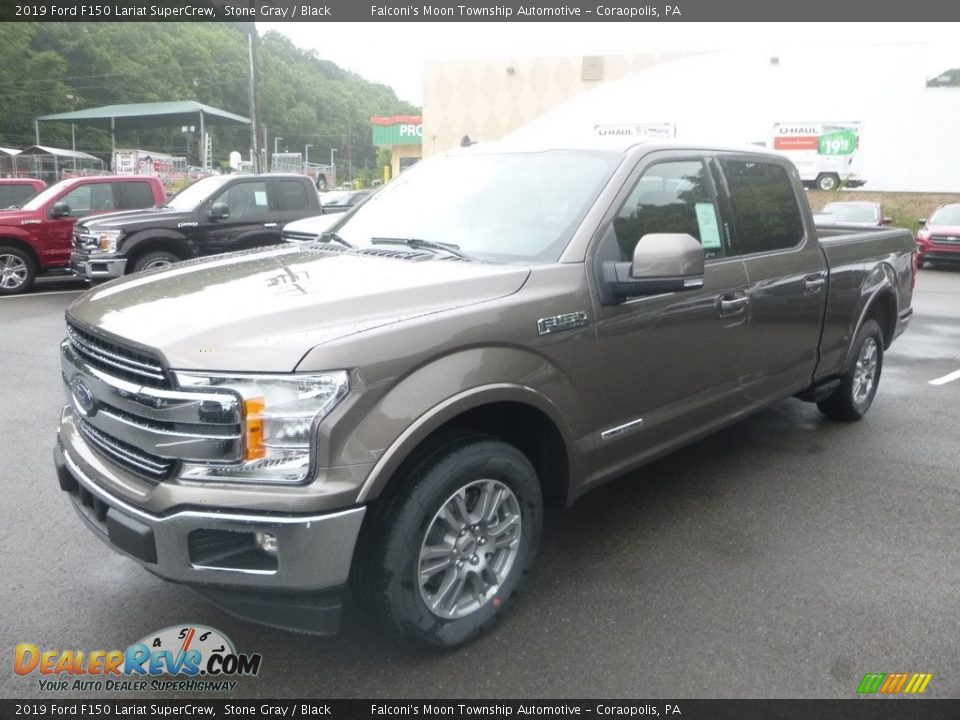 2019 Ford F150 Lariat SuperCrew Stone Gray / Black Photo #5