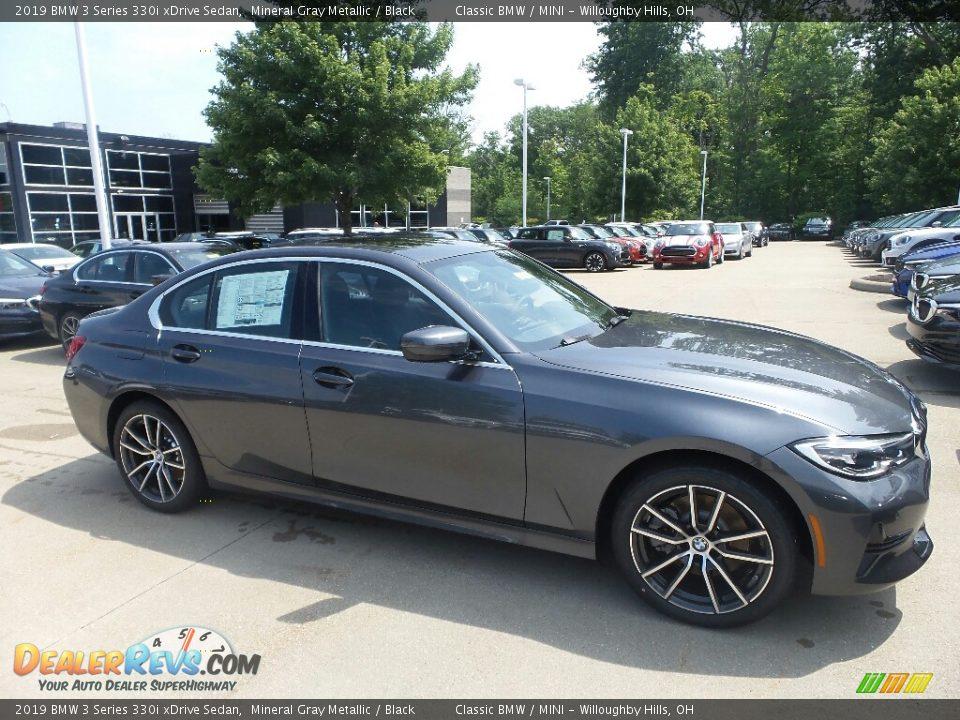 2019 BMW 3 Series 330i xDrive Sedan Mineral Gray Metallic / Black Photo #1