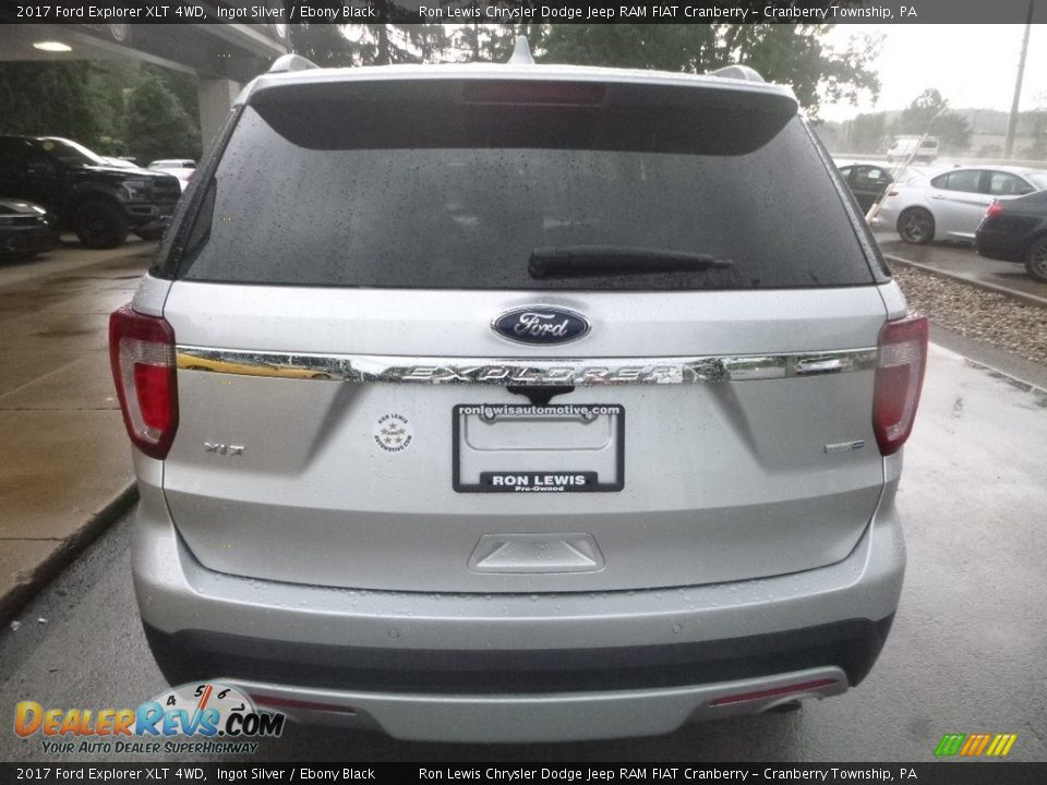 2017 Ford Explorer XLT 4WD Ingot Silver / Ebony Black Photo #8