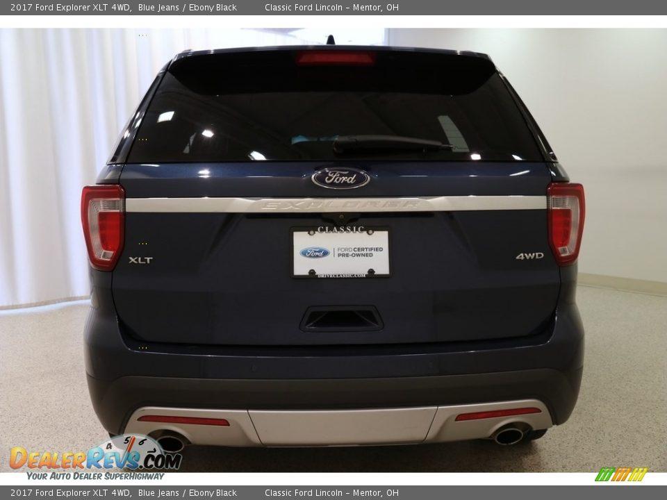 2017 Ford Explorer XLT 4WD Blue Jeans / Ebony Black Photo #22