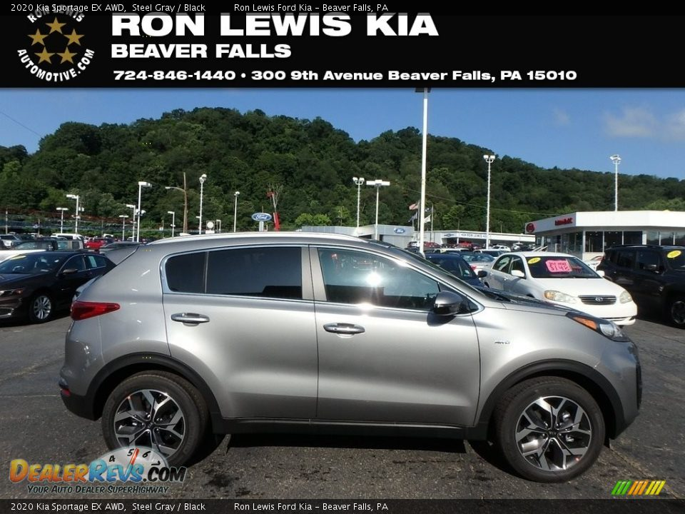2020 Kia Sportage EX AWD Steel Gray / Black Photo #1