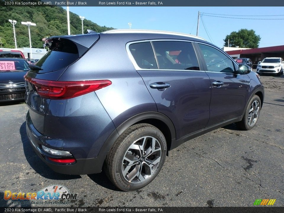 2020 Kia Sportage EX AWD Pacific Blue / Black Photo #2