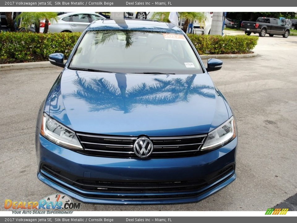 2017 Volkswagen Jetta SE Silk Blue Metallic / Cornsilk Beige Photo #3