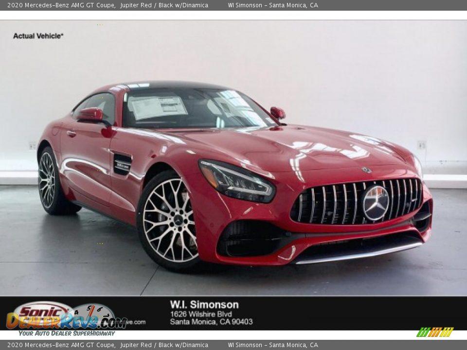 2020 Mercedes-Benz AMG GT Coupe Jupiter Red / Black w/Dinamica Photo #1