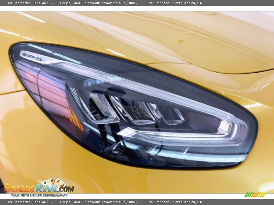 2020 Mercedes-Benz AMG GT C Coupe AMG Solarbeam Yellow Metallic / Black Photo #30