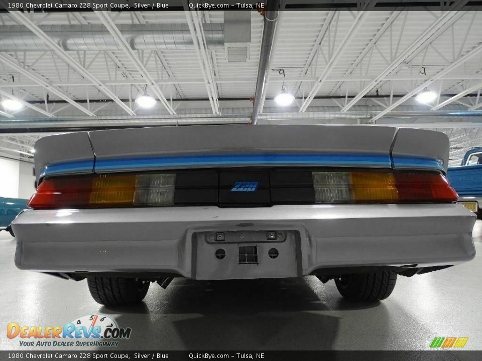 1980 Chevrolet Camaro Z28 Sport Coupe Silver / Blue Photo #2