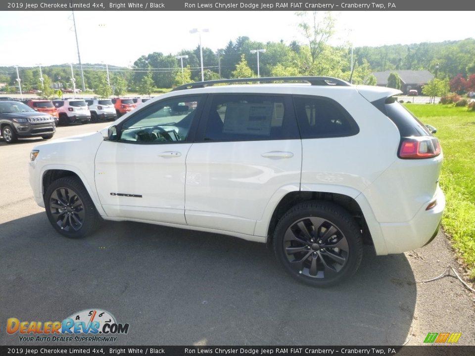 2019 Jeep Cherokee Limited 4x4 Bright White / Black Photo #2