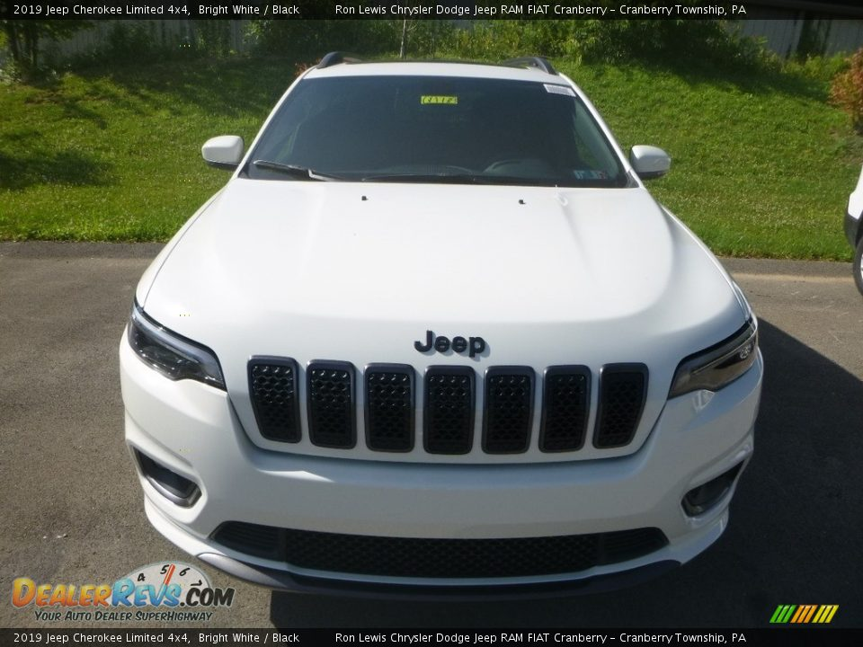 2019 Jeep Cherokee Limited 4x4 Bright White / Black Photo #8