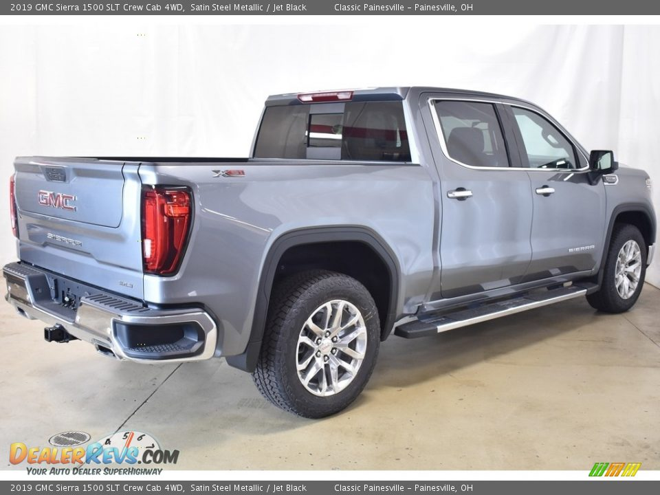 2019 GMC Sierra 1500 SLT Crew Cab 4WD Satin Steel Metallic / Jet Black Photo #2