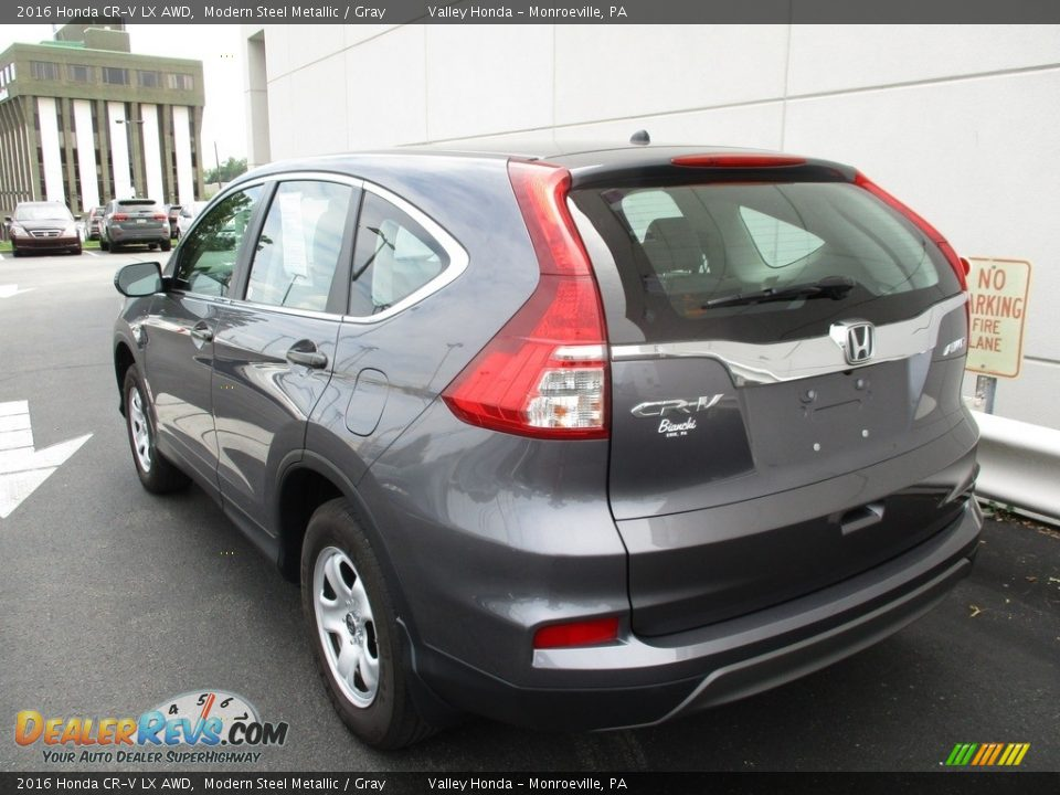 2016 Honda CR-V LX AWD Modern Steel Metallic / Gray Photo #3