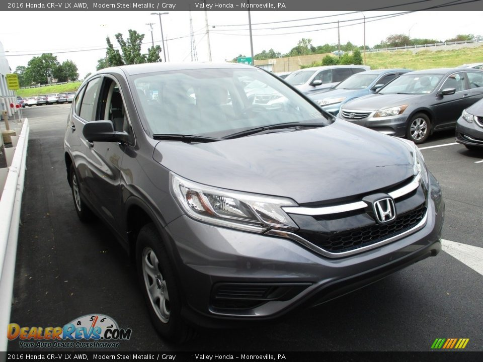 2016 Honda CR-V LX AWD Modern Steel Metallic / Gray Photo #7