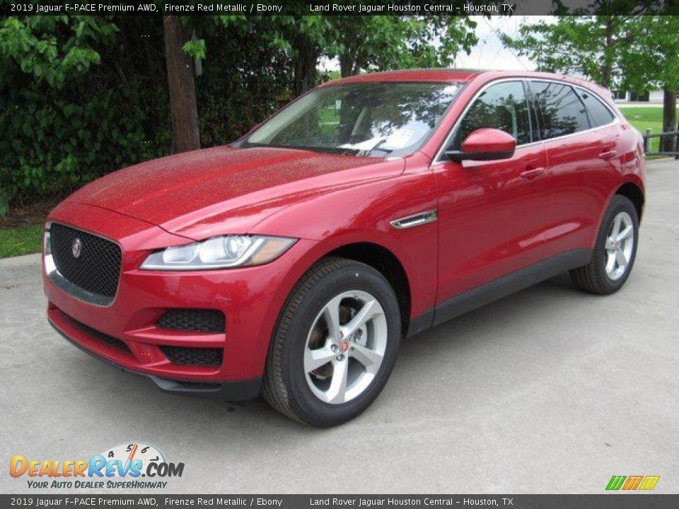 2019 Jaguar F-PACE Premium AWD Firenze Red Metallic / Ebony Photo #10