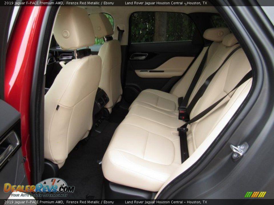 2019 Jaguar F-PACE Premium AWD Firenze Red Metallic / Ebony Photo #13