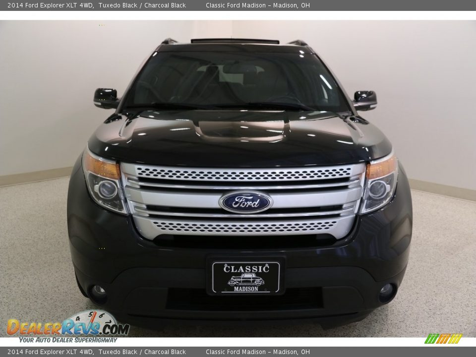2014 Ford Explorer XLT 4WD Tuxedo Black / Charcoal Black Photo #2