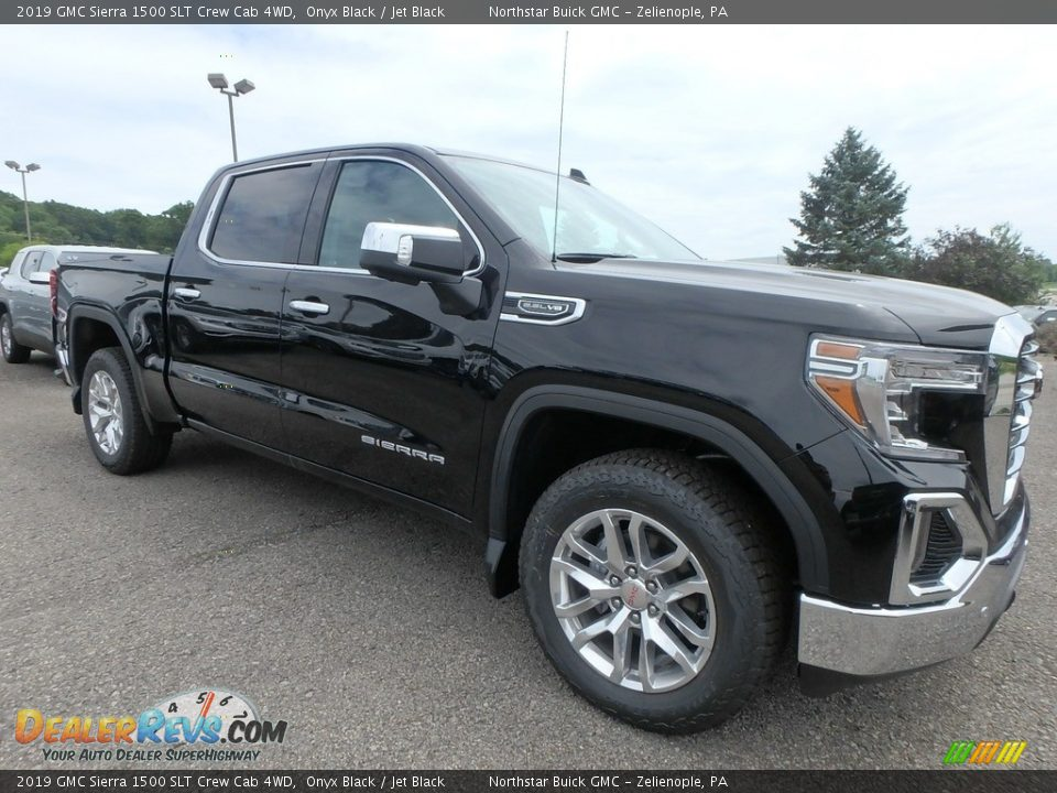 2019 GMC Sierra 1500 SLT Crew Cab 4WD Onyx Black / Jet Black Photo #3