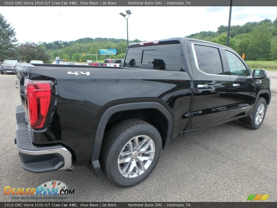 2019 GMC Sierra 1500 SLT Crew Cab 4WD Onyx Black / Jet Black Photo #5