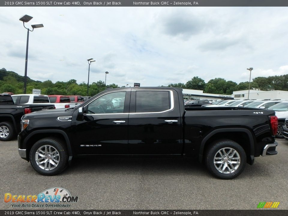 2019 GMC Sierra 1500 SLT Crew Cab 4WD Onyx Black / Jet Black Photo #8