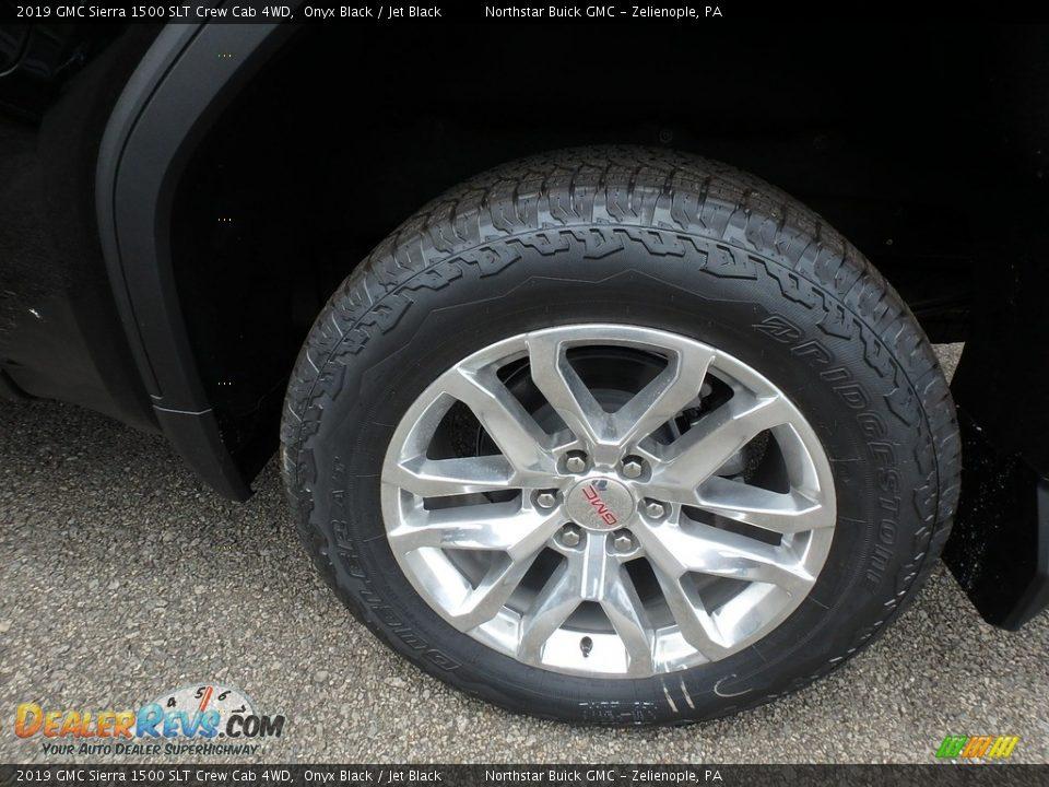 2019 GMC Sierra 1500 SLT Crew Cab 4WD Onyx Black / Jet Black Photo #9