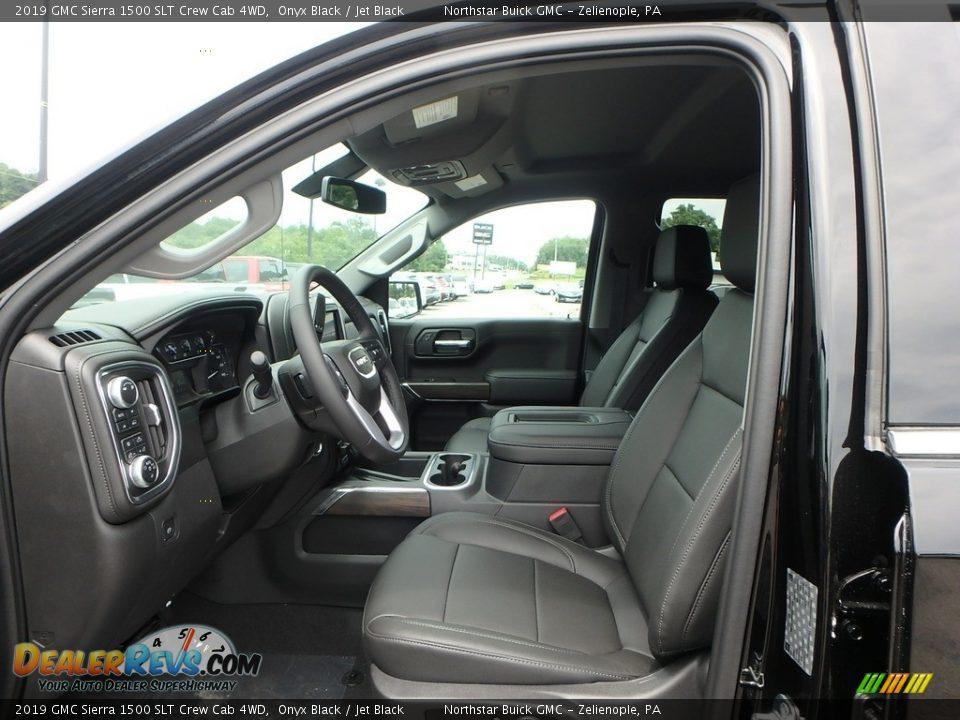 2019 GMC Sierra 1500 SLT Crew Cab 4WD Onyx Black / Jet Black Photo #10