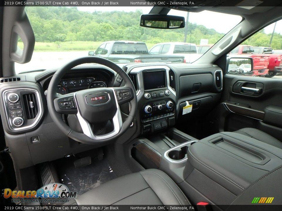 2019 GMC Sierra 1500 SLT Crew Cab 4WD Onyx Black / Jet Black Photo #12
