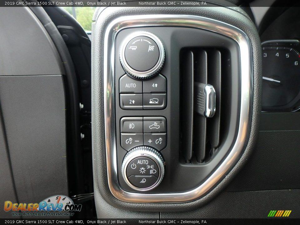 2019 GMC Sierra 1500 SLT Crew Cab 4WD Onyx Black / Jet Black Photo #14