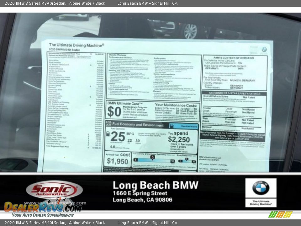 2020 BMW 3 Series M340i Sedan Alpine White / Black Photo #10