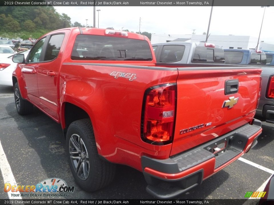 2019 Chevrolet Colorado WT Crew Cab 4x4 Red Hot / Jet Black/Dark Ash Photo #3